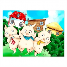 Three Little pigs (Poster)