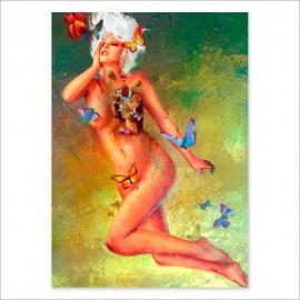 Bye, bye butterflies painting (Poster)