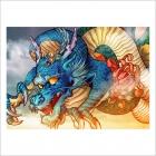 Dragón gon con personajes