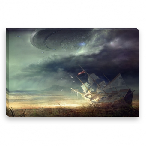 Mothership arrives (Canvas)