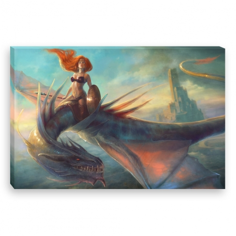 Dragon Warrior (Canvas)