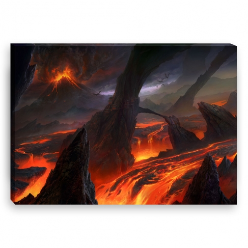 Lava fields (Canvas)