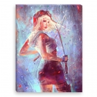 Katana Girl (Canvas)
