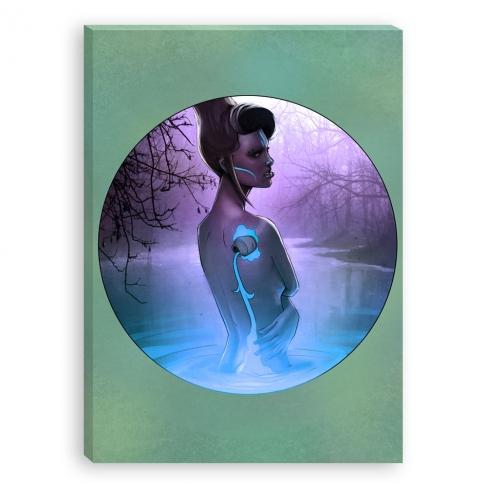 Aquarius (blue) (Canvas)