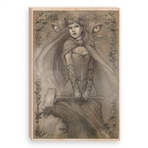 Caperucita pencil (Canvas)