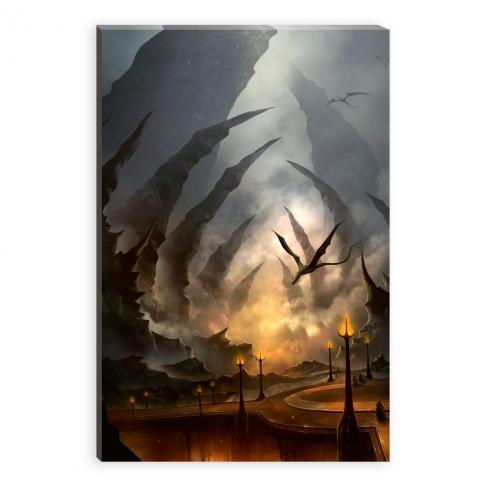 Toward the border of hell (Canvas)