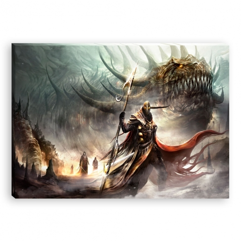The guard of the dragon (Canvas)