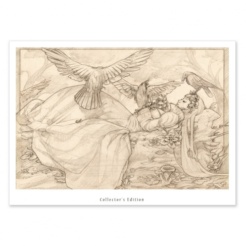 Sleeping beauty, pencil draw (Collector sheet)