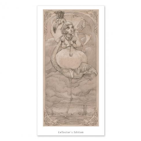 Flamingo, drawing (Collector sheet)