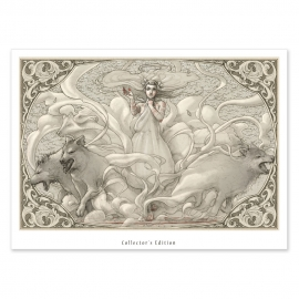 Invocación de lobos - Dibujo
