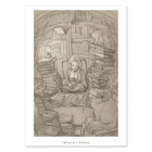 Old books and cats - Dibujo