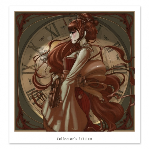 Geisha Steampunk color (Collector sheet)