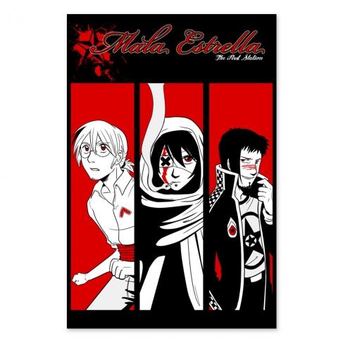 Mala Estrella. Black, red and white (Poster)