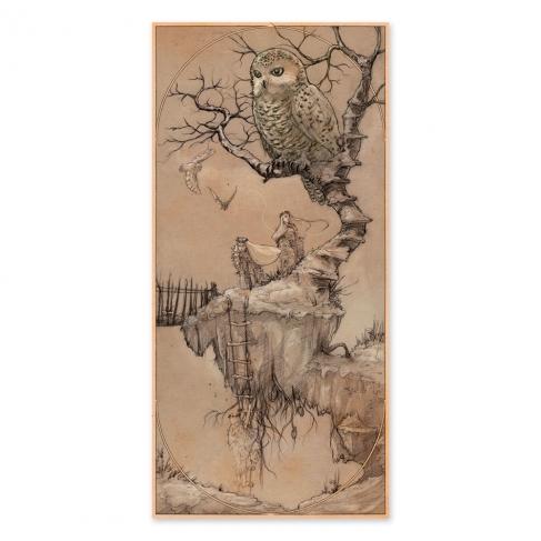 Isla flotante - Dibujo