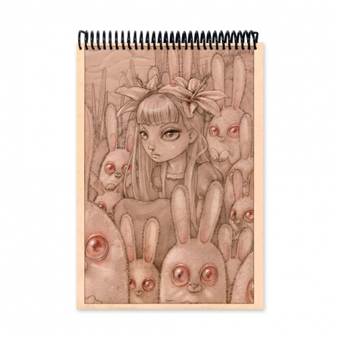 Bunnies from Outer Space color (Notebook)