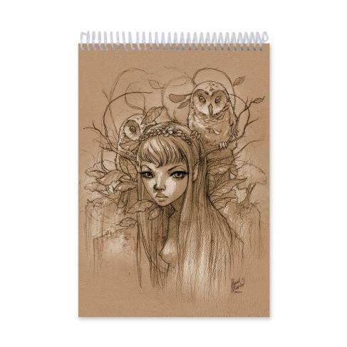 Búhos - Dibujo