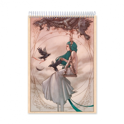 Swing girl colour (Notebook)