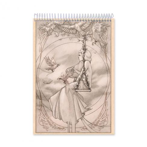 Swing girl drawing (Notebook)