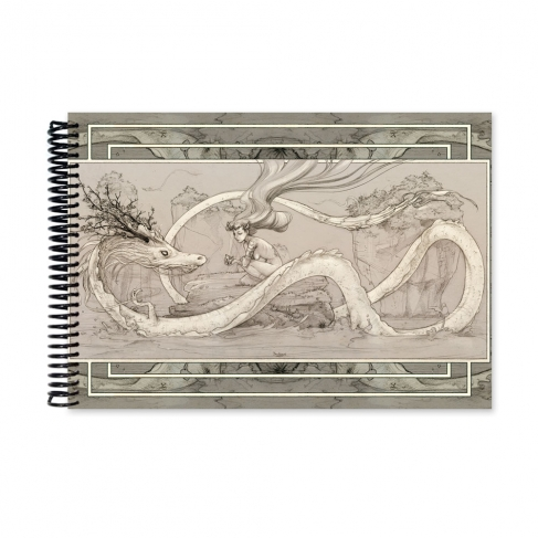 Alimentando al dragón - Dibujo