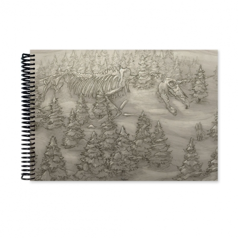 Giant skeleton drawing (Notebook)