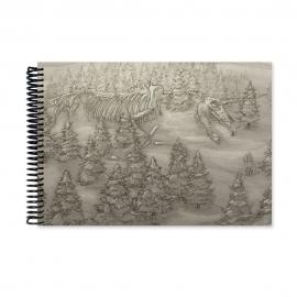 Giant skeleton drawing (Notebook)