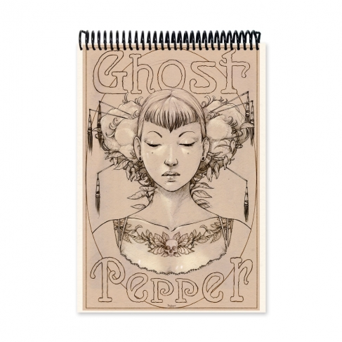Ghost pepper drawing (Notebook)