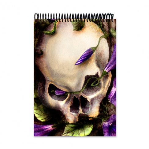 Skull and flowers (Notebook)