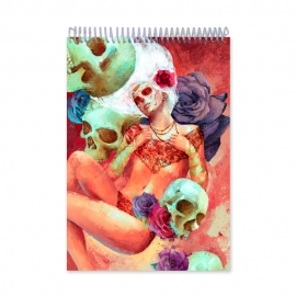 Girl with skulls tribal (Notebook)
