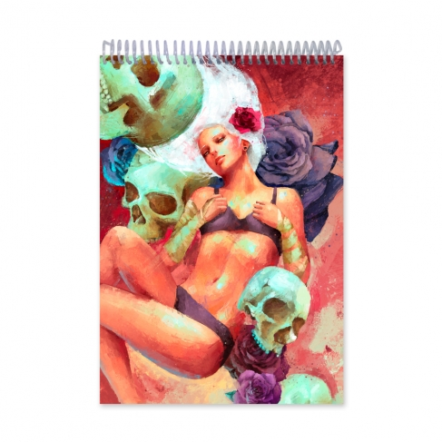 Girl with skulls (Notebook)