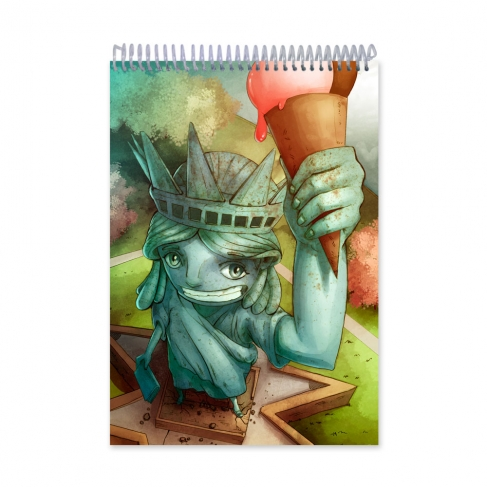 Statue of Liberty Ice cream (Notebook)
