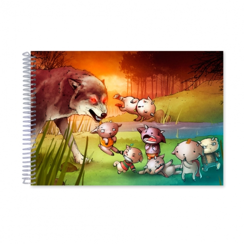 The wolf and the 7 Little Kids (Notebook)